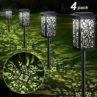 4-Piezas】Lámparas Solares para Jardín IP65-impermeable seguridad Luces Exterior Jardin Lámpara Solar Jardín Luz Diseño plegable Luz Solar de Césped Para decorativa Camino Jardín Terraza Céspe: Amazon.es: Iluminación