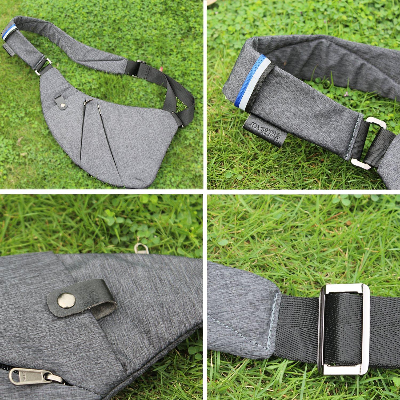 8721bbb3a591 TOPNICE Sling Bag Crossbody Shoulder Chest Back Pack Anti Theft Travel Bags  Daypack for Men Women ...