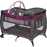 Safety 1st Prelude Play Yard, Built in Full Size Bassinet, Easy to Move and Carry, Sorbet