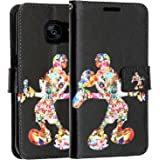 Galaxy S8 Wallet Case, DURARMOR Vintage Black Mickey Mouse PU Leather Folio Wallet Case with ID Credit Card Cash Slots Flip Stand Cover Case for Galaxy S8 Mickey Mouse
