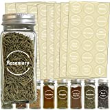 Talented Kitchen 144 White Spice Label and Pantry Label Set: 96 Spice Names + 30 Pantry Ingredients + 9 Blank Write-On…