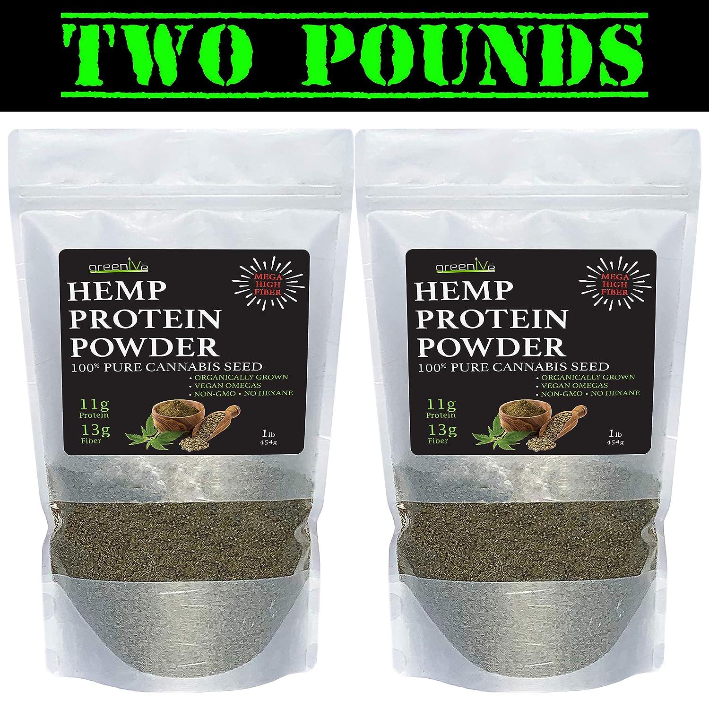 GreenIVe – Hemp Protein Powder – Protein Fiber – Organically Grown – Exclusively on Amazon 3 Pounds