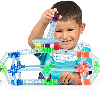 Brackitz Inventor STEM Discovery Building Toy for Kids Ages 3, 4, 5, 6+ Year Olds   Best Boys & Girls Educational Engineering Construction Kits   Creative Fun Learning Toys for Children   100 Pc Set