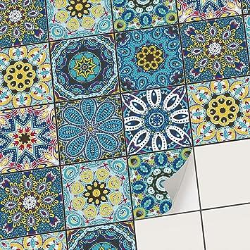 Adhésif Carrelage Autocollant Stickers Carrelage Mural I Carreaux De Ciment Pour Cuisine Et Faience Salle De Bain 15x15 Cm I 9 Pièces