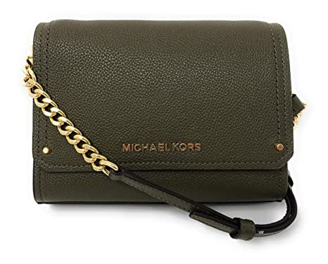 2b0521c45292 Amazon.com  Michael Kors Hayes Small Leather Clutch Crossbody Bag in ...