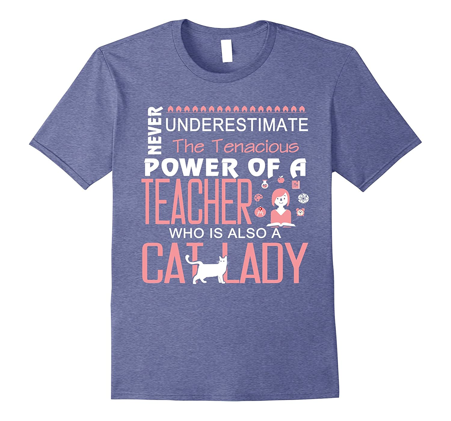A Teacher Who Is Also A Cat Lady T Shirt Cat T Shirt-PL