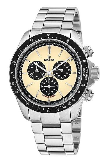 Kronos - Vintage Sport Chronograph Desert 985.8.35 - Reloj de caballero de cuarzo,