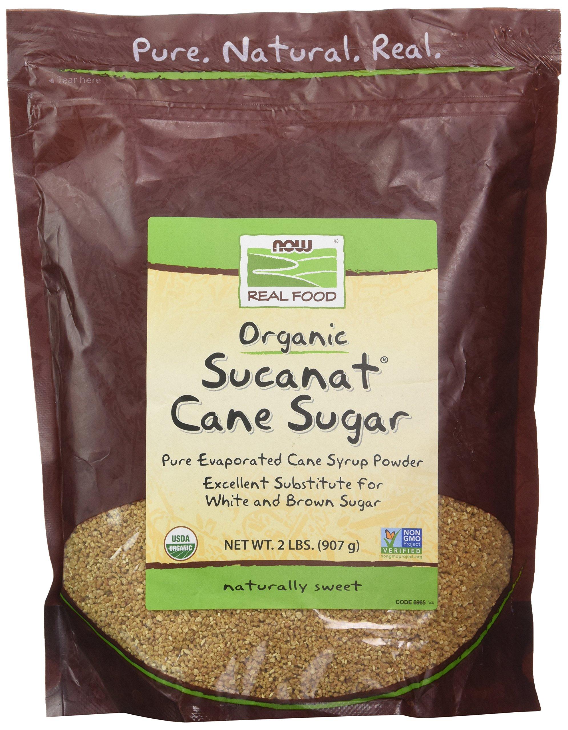 NOW Foods Sucanat(R) Organic Sugar Cane - 2 lb