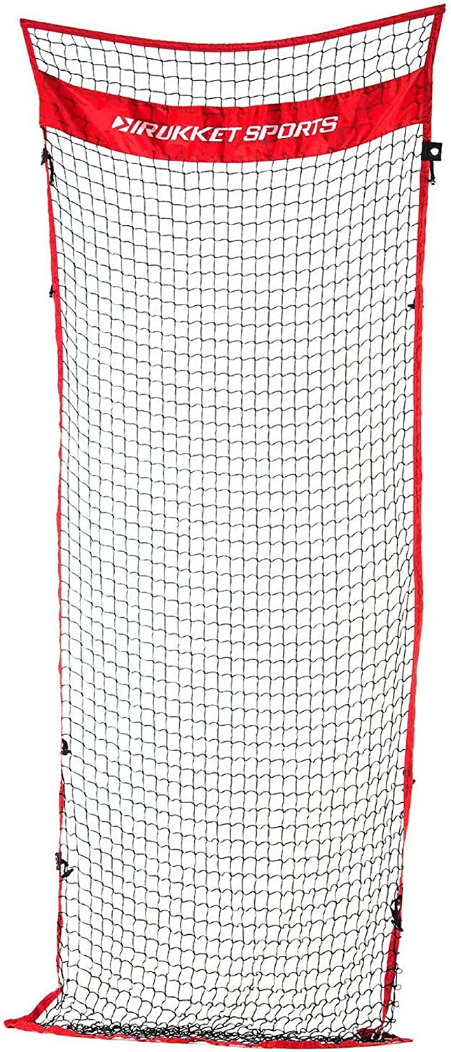 Rukket 12x9ft Barricade Backstop Net, Indoor and Outdoor Lacrosse, Basketball, Soccer, Field Hockey, Baseball, Softball Barrier Netting for Backyard, Park, and Residential Use (Connector) : Sports & Outdoors