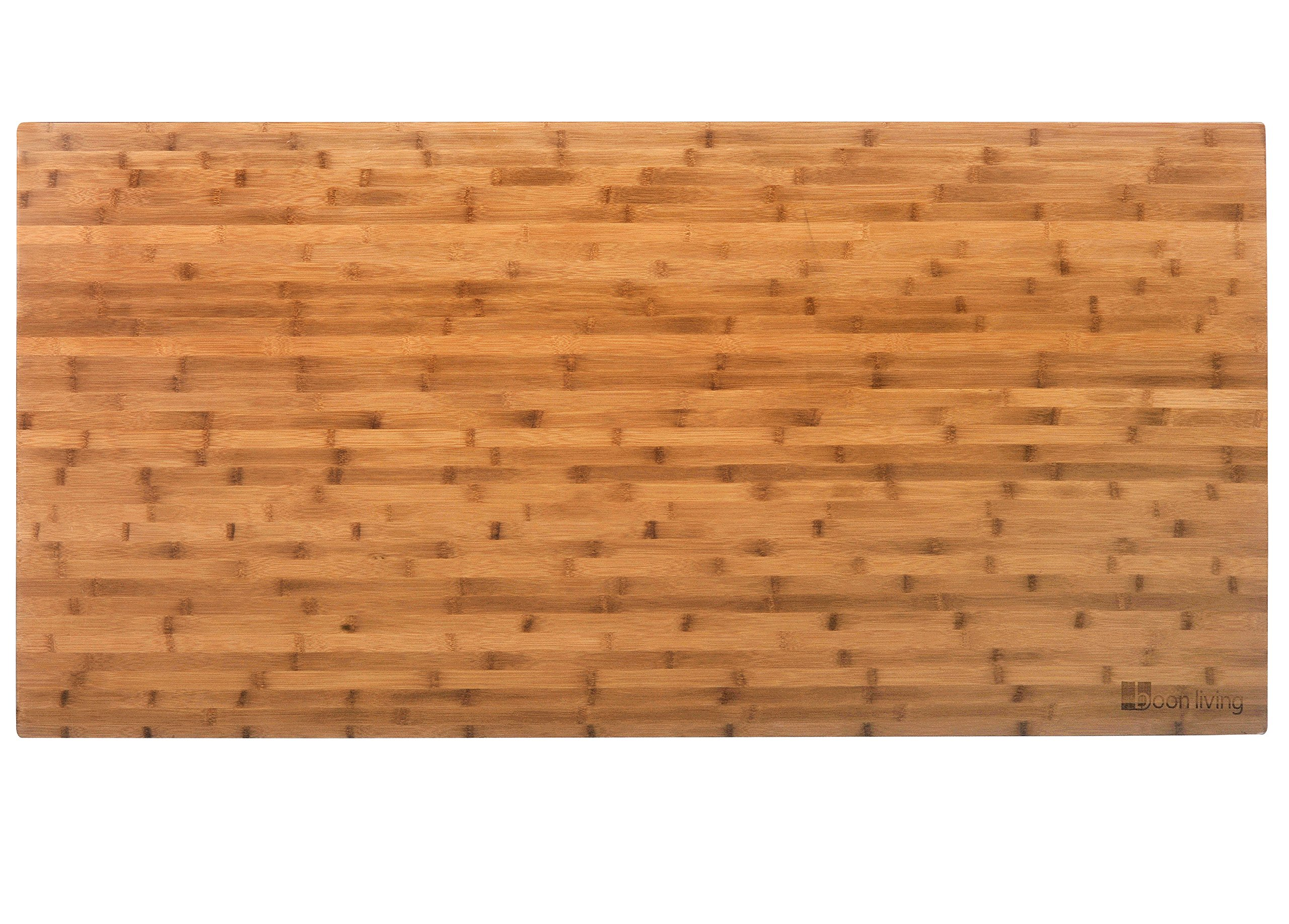 Boonliving Eco-Friendly Natural Bamboo Tabletop, 30'' x 60'', Parallel