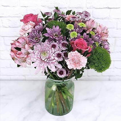 Amazon Com Mix Flower Bouquet Fresh Cut Format Mixed Flower Arrangements Grocery Gourmet Food
