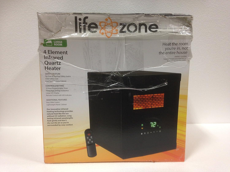 Amazon.com: Lifezone 4 Element Infrared Heater Black Cabinet: Home ...