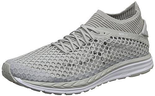 1590f494f5ed7f Puma Men s Speed Ignite Netfit Gray Violet White Running Shoes-10 UK India (