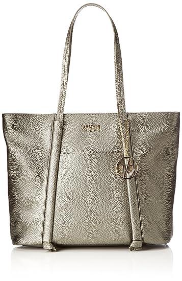 Damen Borsa Shopping Tote, Silber (Platino), 30x12x43 cm Armani Jeans