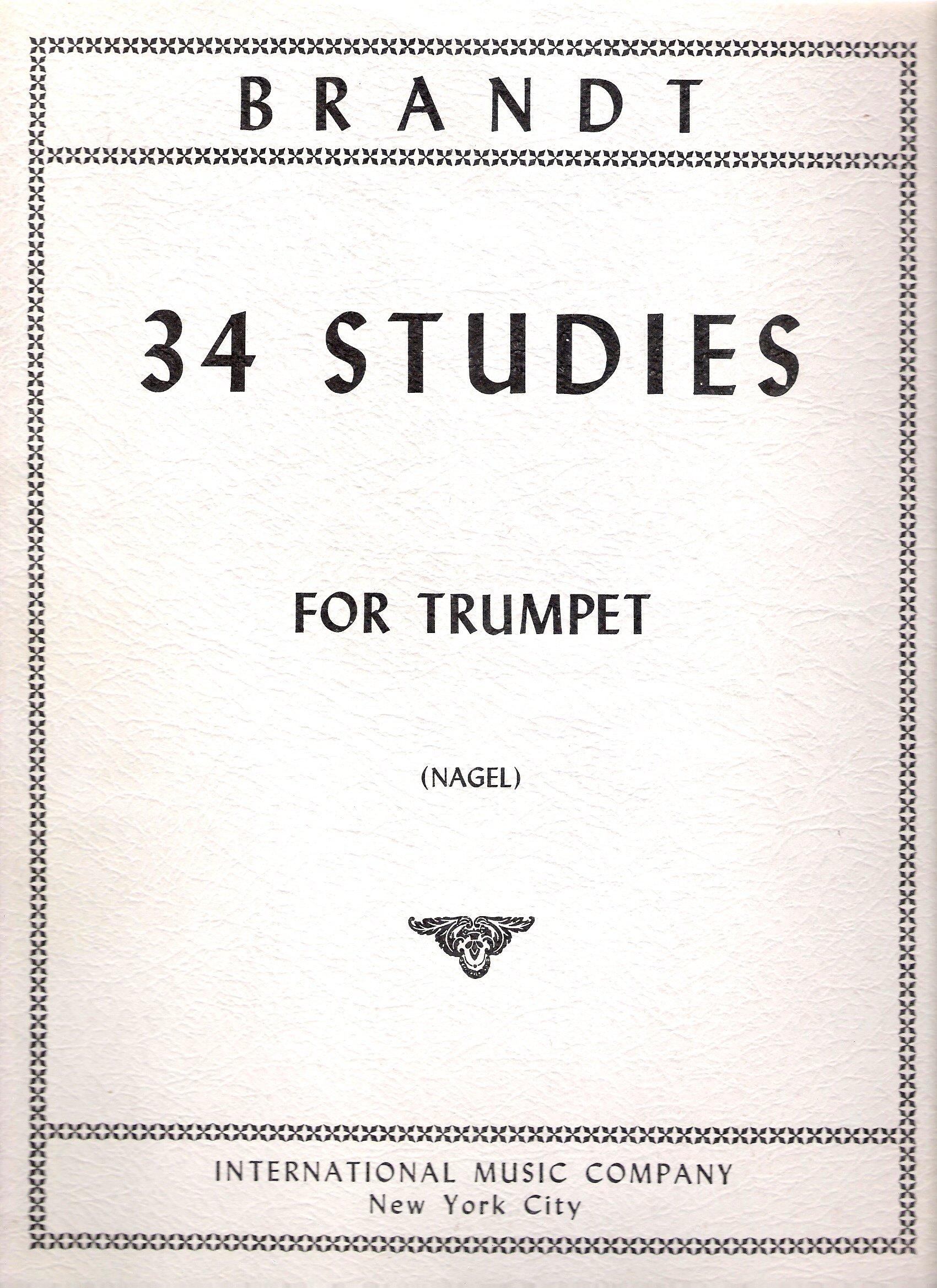 Brandt: 34 Studies for Trumpet (On Orchestral Motives) (1391