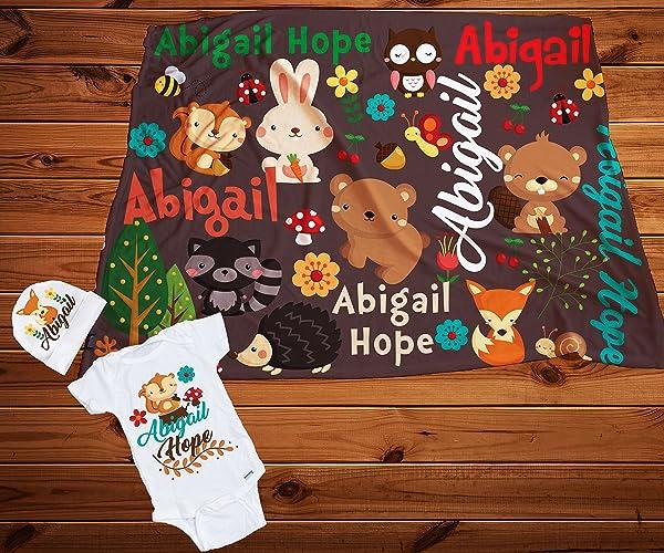 bd8f77226 Amazon.com  Woodland Baby blanket