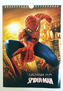 Spiderman Wall Calendar New 2021 A4