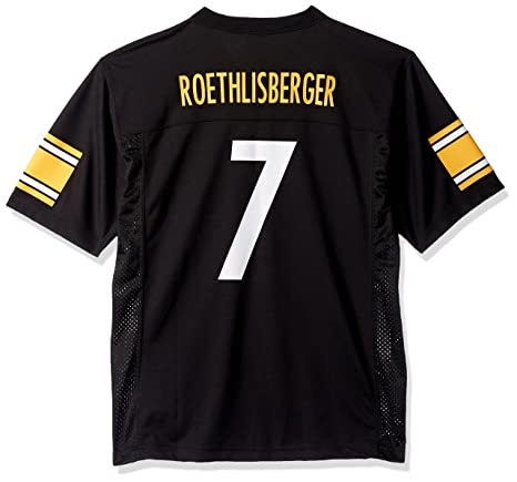 0d9f4b1eed6 Outerstuff Ben Roethlisberger Pittsburgh Steelers Youth Black Jersey (Large  14-16)