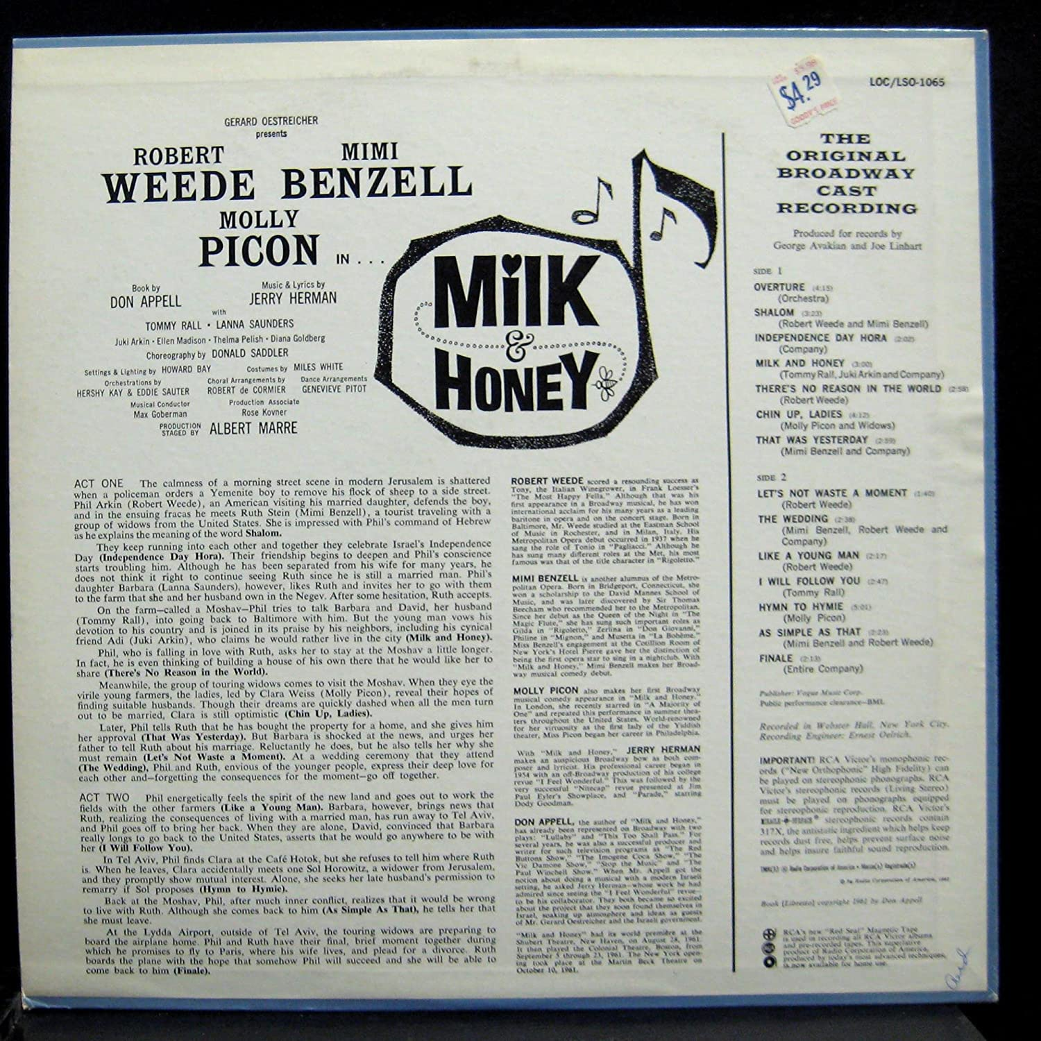 Original Broadway Cast Original Broadway Cast Milk And