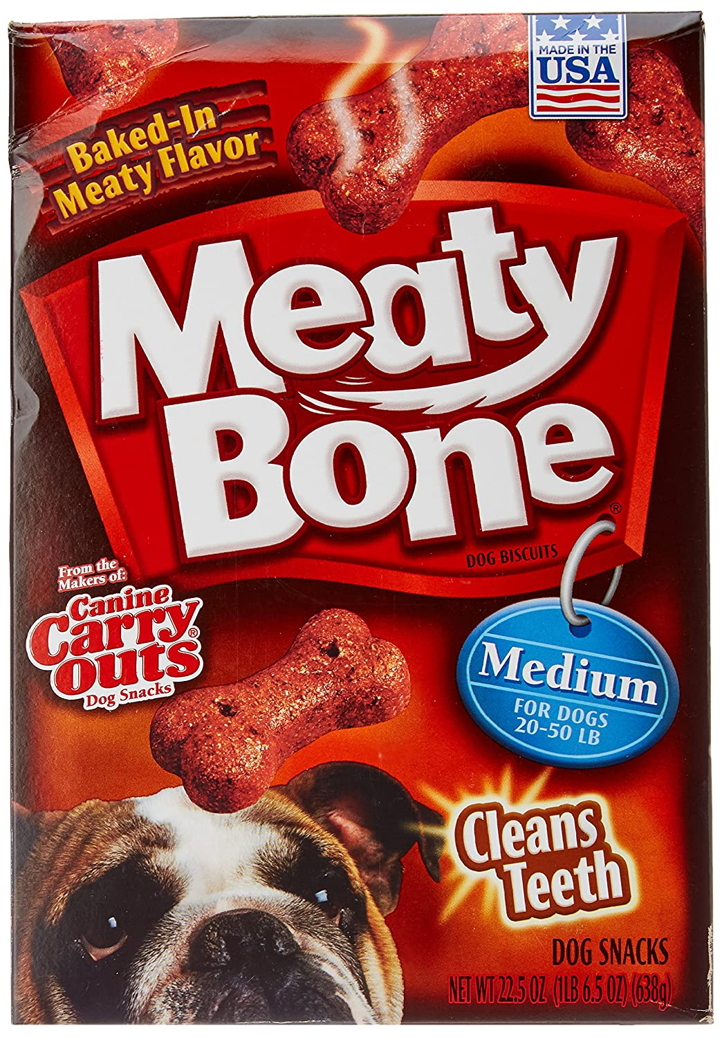 Meaty Bone Dog Biscuits, Medium, 22.5 Ounce