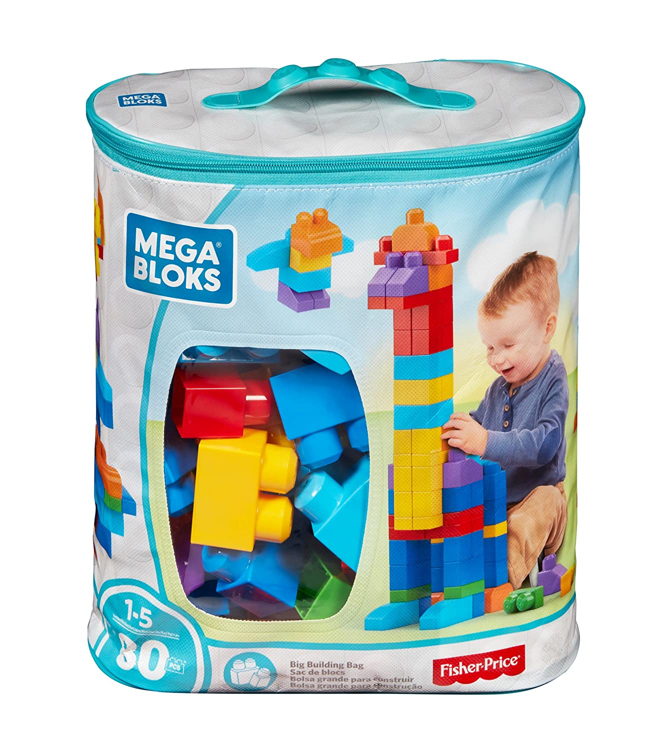 Amazon Mega Bloks 80 Piece Big Building Bag Classic Toys