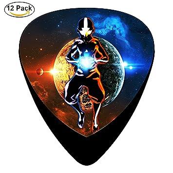 Avatar Aang The Last Airbender Púas de guitarra púa para guitarra eléctrica o acústica celuloide Pick Set: Amazon.es: Instrumentos musicales