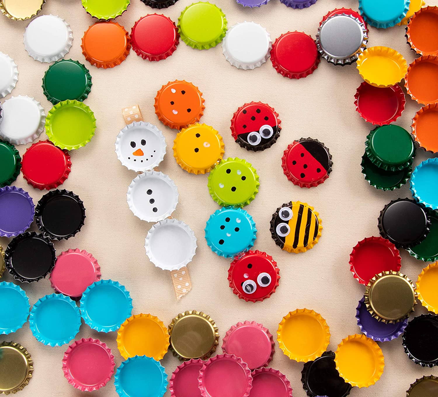 Black Hairbows Scrapbooking 1 Inch Diameter Perfect for Jewelry Making Decorative Bottle Caps Bottle Caps- 120-Pack Craft Crown Bottle Caps Pendants DIY