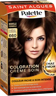 saint algue palette coloration permanente glossy pralins chtain caramel 660 - Coloration Mousse Saint Algue