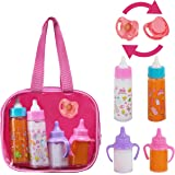 fash n kolor, My Sweet Baby Disappearing Doll Feeding Set   Baby Care 4 Piece Doll Feeding Set for Toy Stroller   2 Milk & Ju