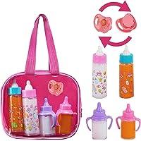 fash n kolor, My Sweet Baby Disappearing Doll Feeding Set   Baby Care 4 Piece Doll Feeding Set for Toy Stroller   2 Milk…