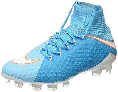 Nike Hypervenom Phatal 3, Botas de fútbol para Mujer, Azul (Polarized White-Chlorine Blue-Tart), 38 EU: Amazon.es: Zapatos y complementos