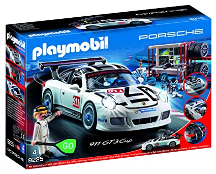 Playmobil 9225 Porsche 911 Gt3 Cup With Racing Command Station