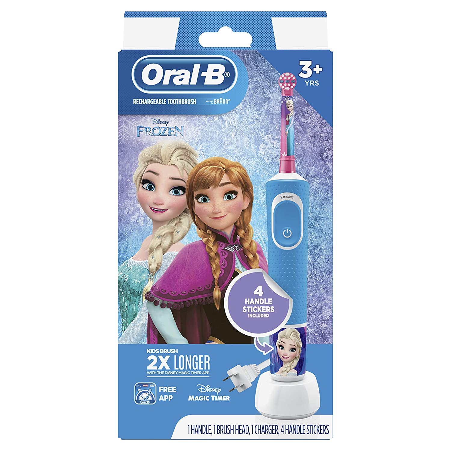 Oral-B Kids Electric Toothbrush for Kids 3+ with Burts Bees Kids Toothpaste 4.2 Ounce Fruit Fusion Fluoride Free