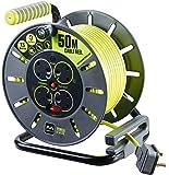 Masterplug OLU50134SL-PX 50 m Pro-XT 13 A 4 Gang Open Reel - Green