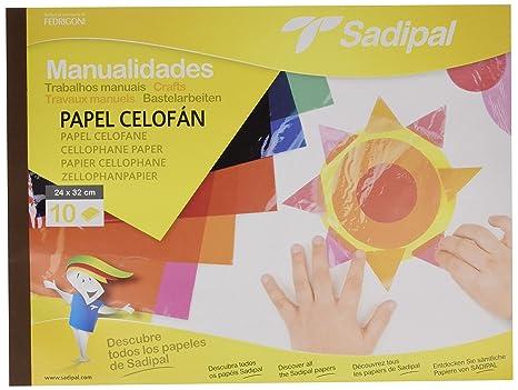 Amazon.com : BLOC MANUALIDADES PAPEL CELOFAN 32X24CM ...