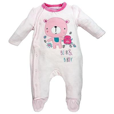 Bonjour bébé - Dors bien grenouillère pyjama bébé en velours Ourson