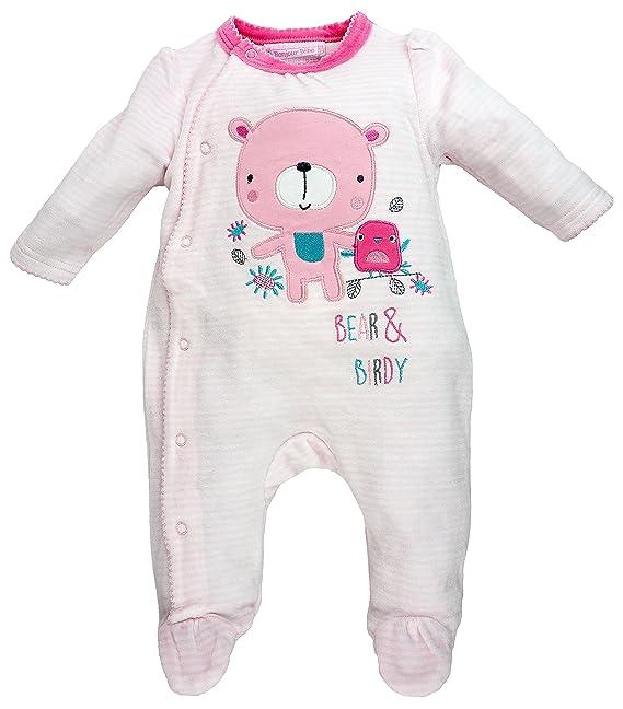 Bonjour bébé - Pelele - para bebé niña Rosa 0-3 Meses: Amazon.es: Ropa y accesorios