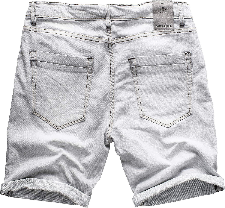 Sublevel Uomo Jeans da jogging Pantaloncini Corti Bermuda Denim Sweatpants Cargo Jeans da jogging vintage pantaloni combat used look