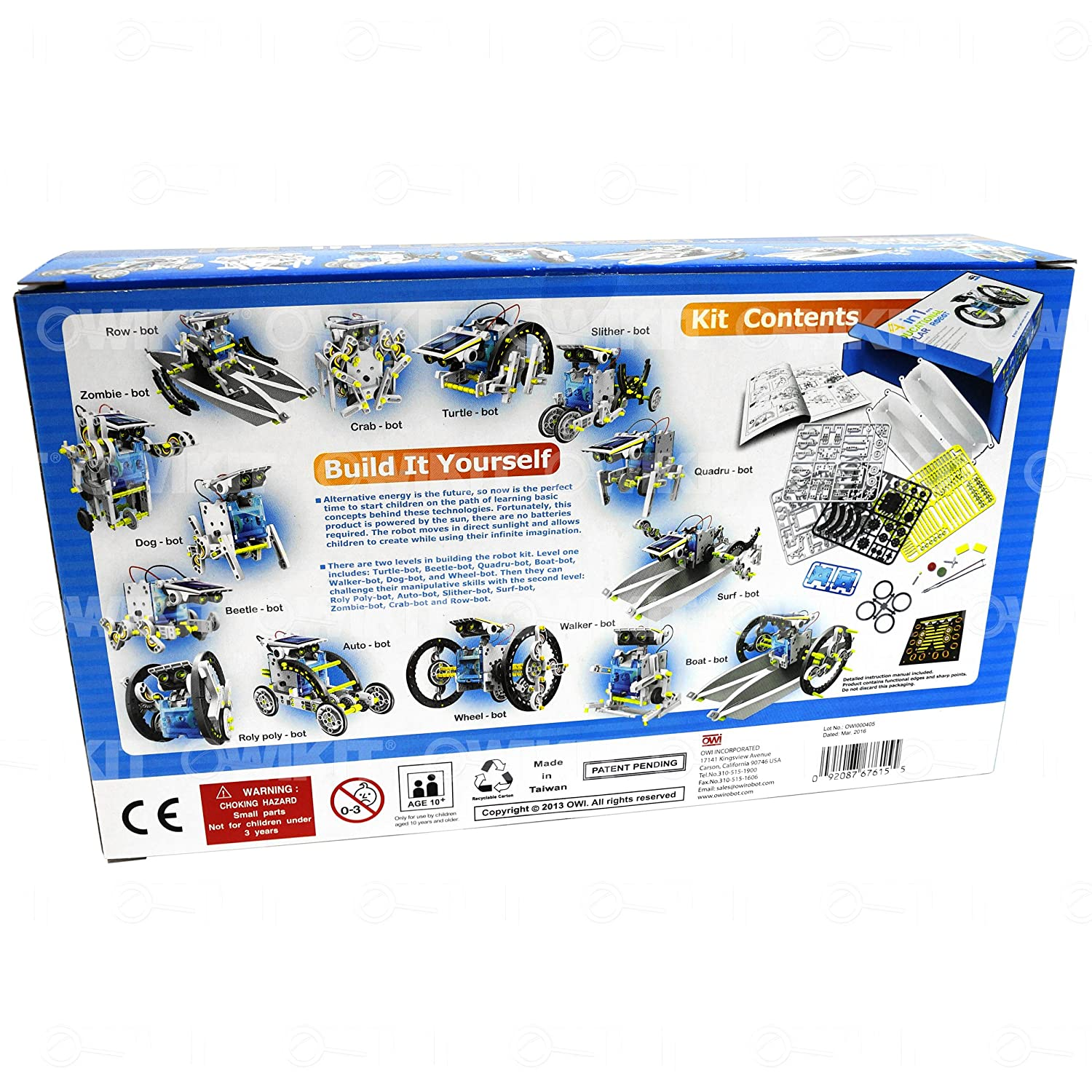Amazon owi 14 in 1 solar robot toys games solutioingenieria Gallery