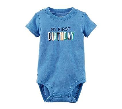 Carters Baby Boys First Birthday Bodysuit