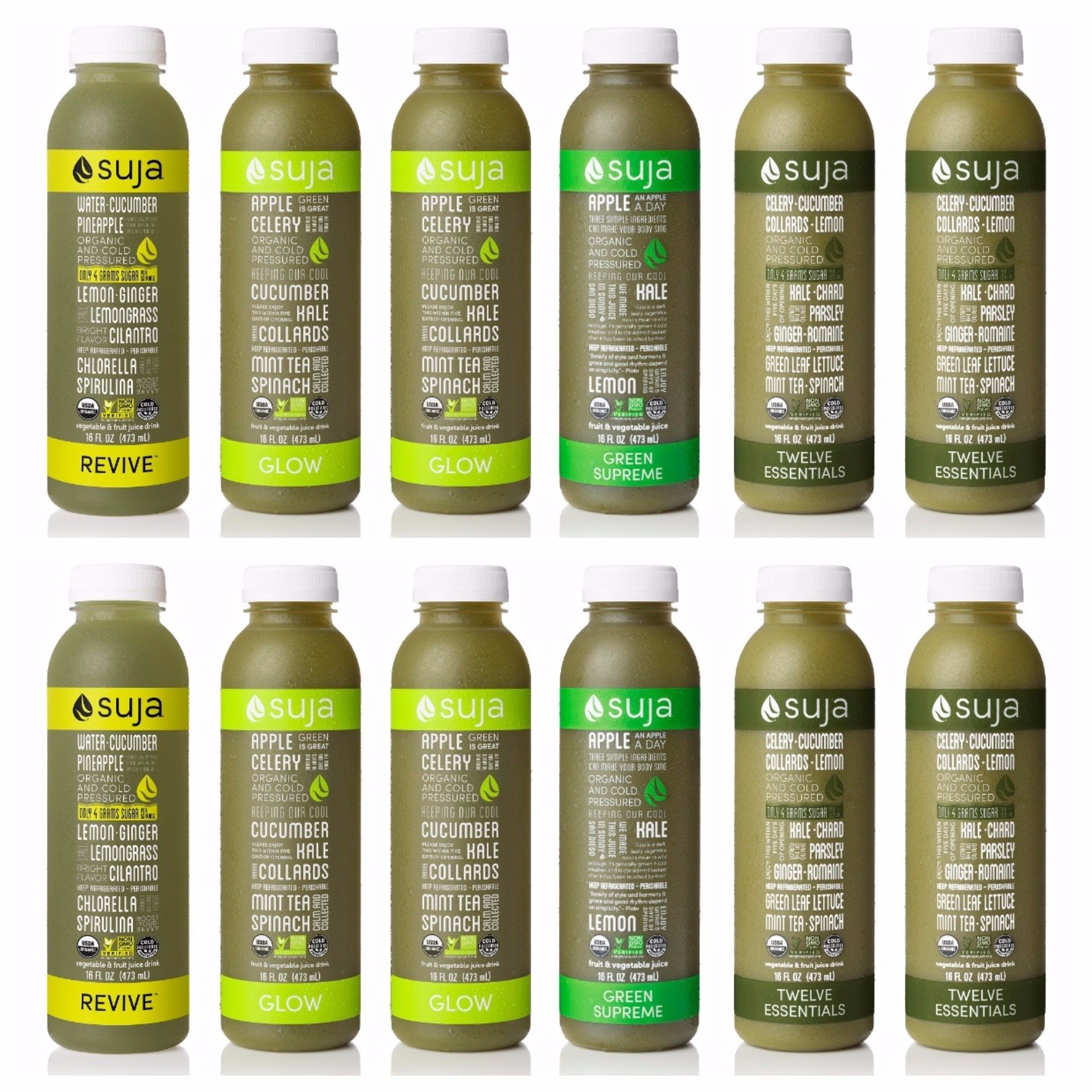 Amazon suja organic cold pressed juice 3 day fresh start pack suja organic cold pressed juice green freak variety pack 16 fl oz malvernweather Images
