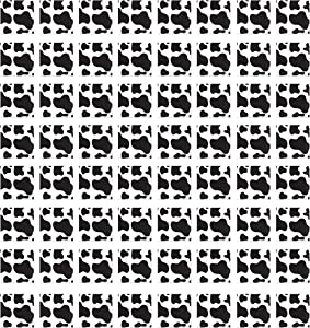 Beistle Cow Print Lunch Napkins 64 Piece Farm Birthday Decorations Western Party Supplies Tableware, 6.5