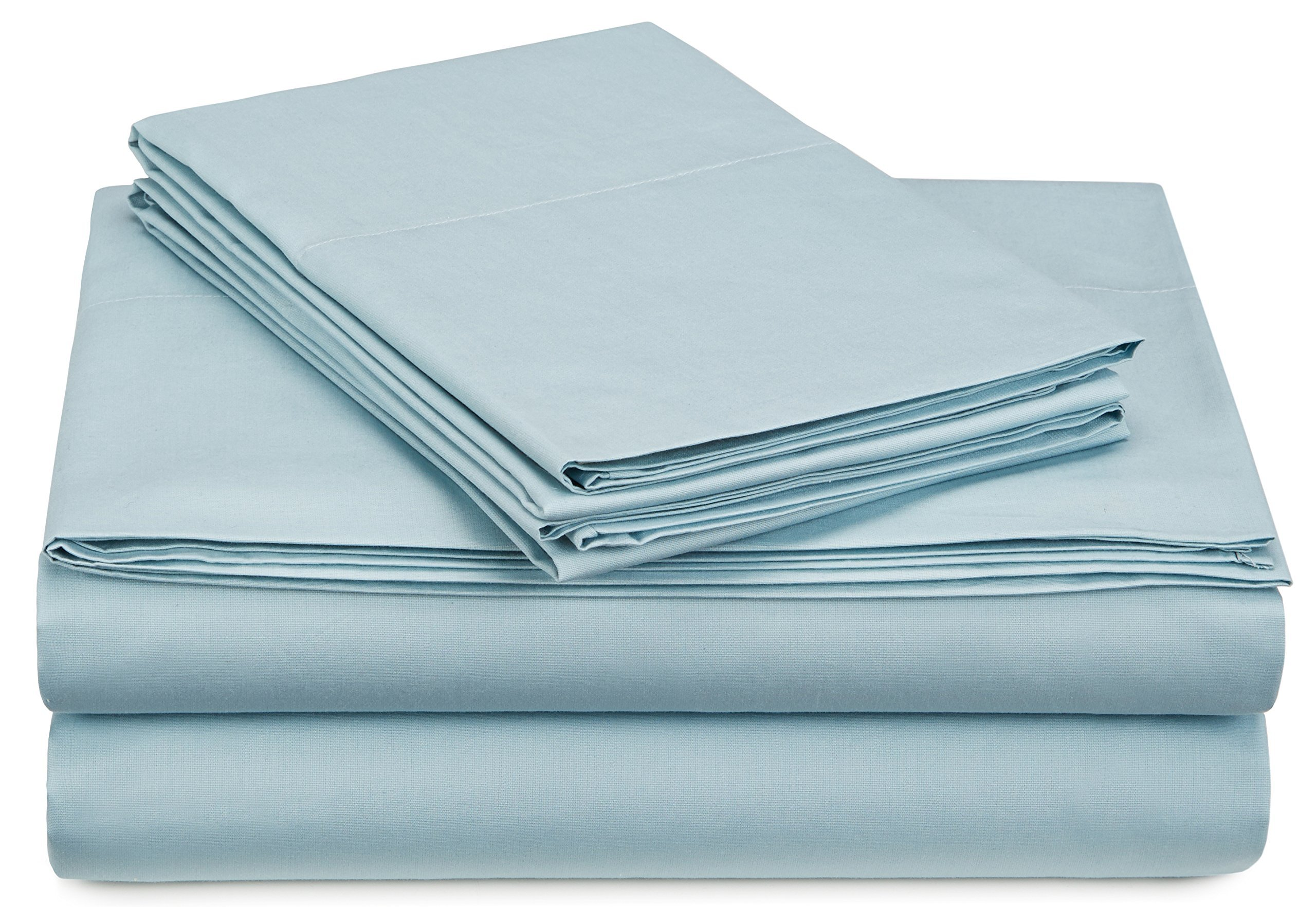Pinzon 300-Thread-Count Percale Sheet Set -  King, Spa Blue