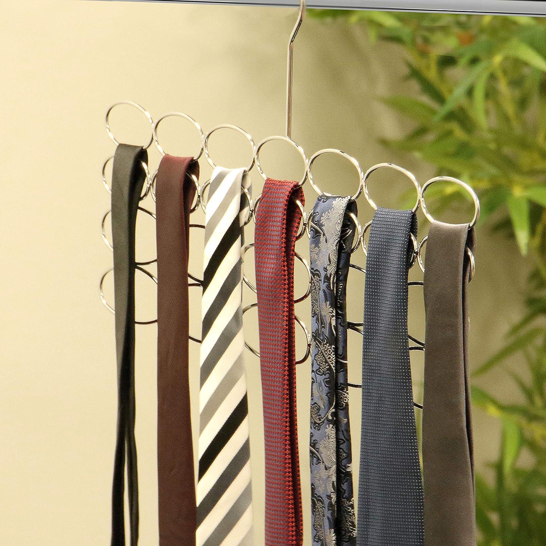 2 colgadores para bufandas, cinturónes y corbatas| Perchas de ...