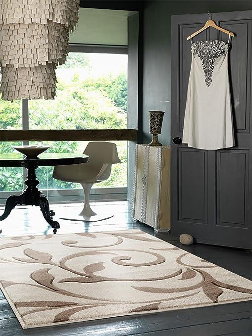 Amazon.com: benuta Modern Rug Vogue Grey 60x120 cm / SALE ...
