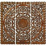 Artesia Handmade Set of 3 Wooden Plaques Wall Décor Panel