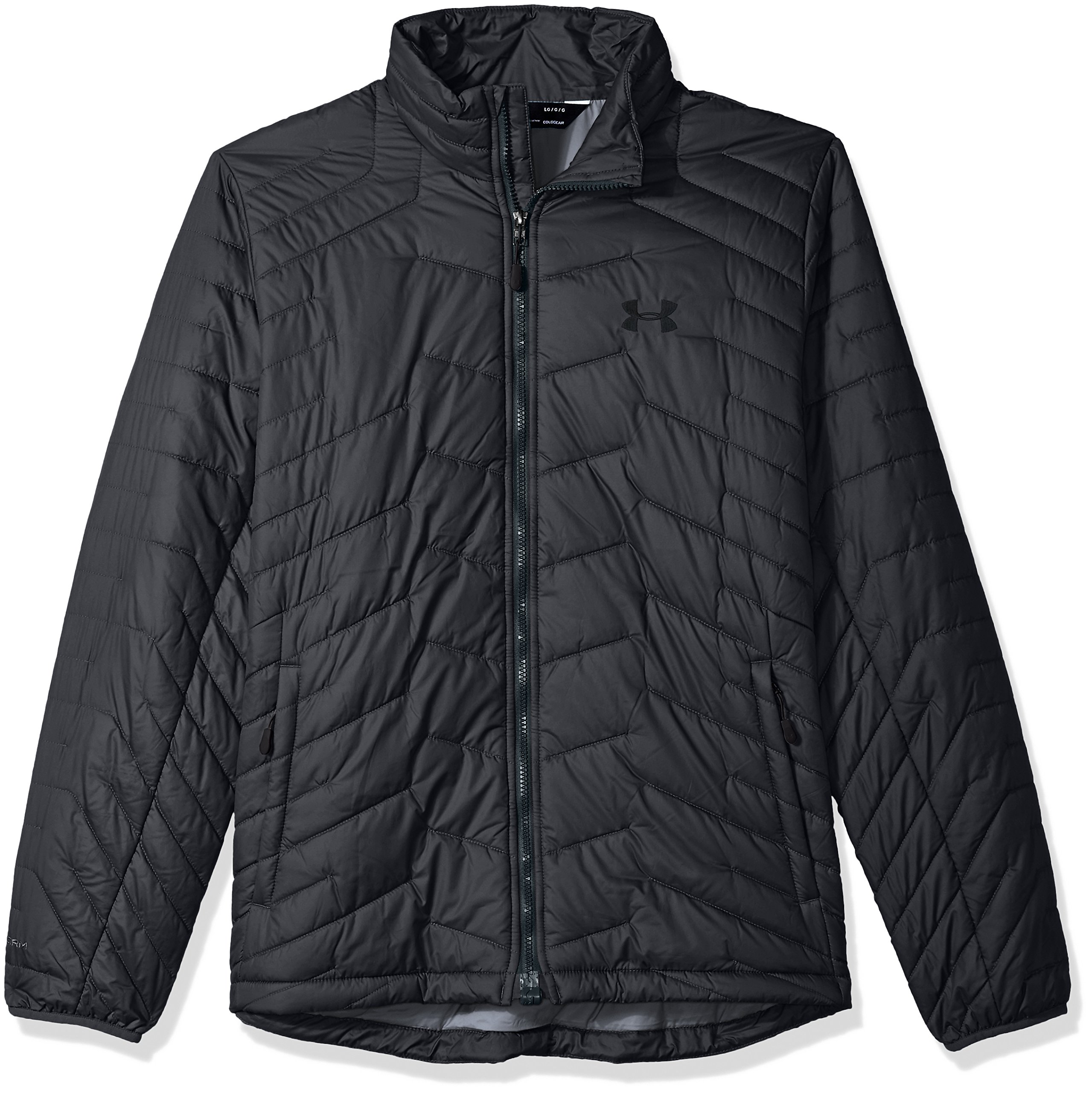 Under Armour Outerwear Men's Cold Gear Reactor Jacket, Carbon Heather/Black, X-Large by Under Armour