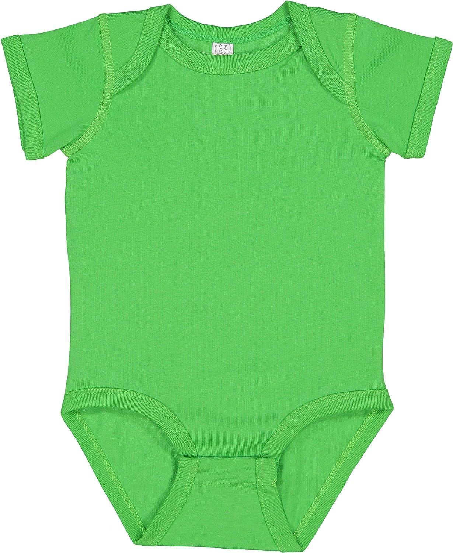 RABBIT SKINS, Baby Soft Fine Jersey Short Sleeve Bodysuit