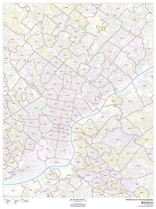 Amazon.com : Philadelphia County, Pennsylvania Zip Codes - 36