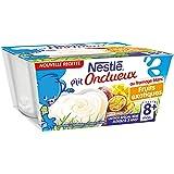Nestlé Bébé P'tit Onctueux au Fromage Blanc Fruits Exotiques - Laitage dès 8 Mois - 4 x 100g - Lot de 6